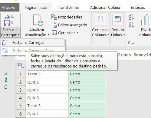 ETAPAS APLICADAS Power Query 06