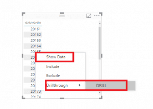 Power BI Desktop : Recurso de Drillthrough